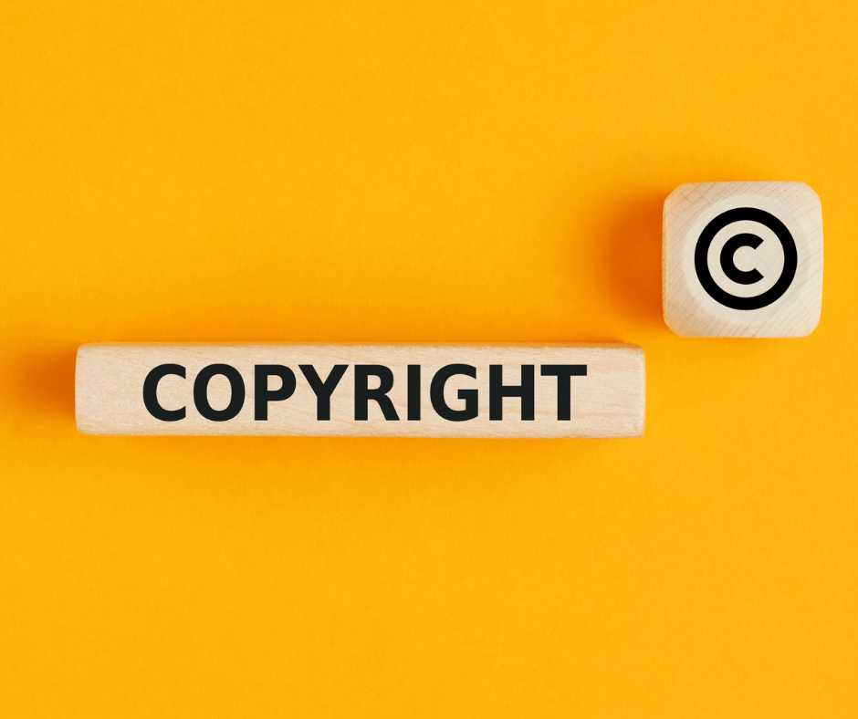 Copyright on yellow background