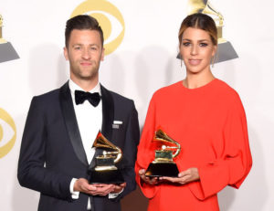 Ligertwood and Fielding with Grammy Awards