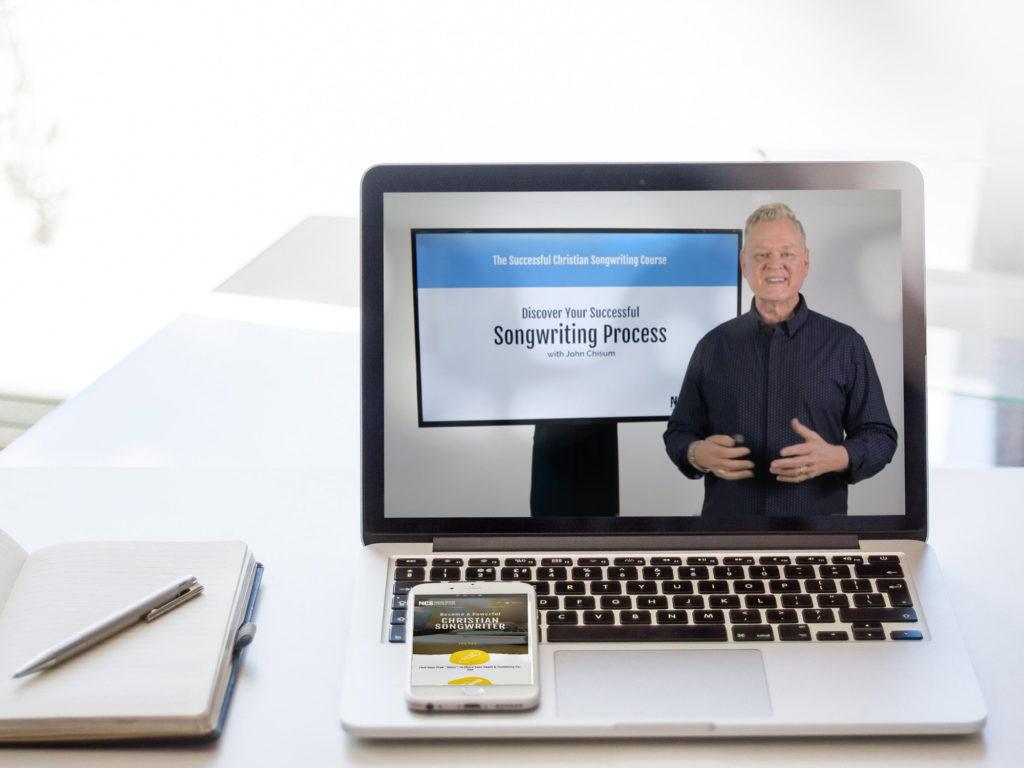 laptop with teacher onscreen